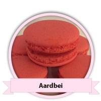 Aardbei Macarons bestellen - Happy Cupcakes